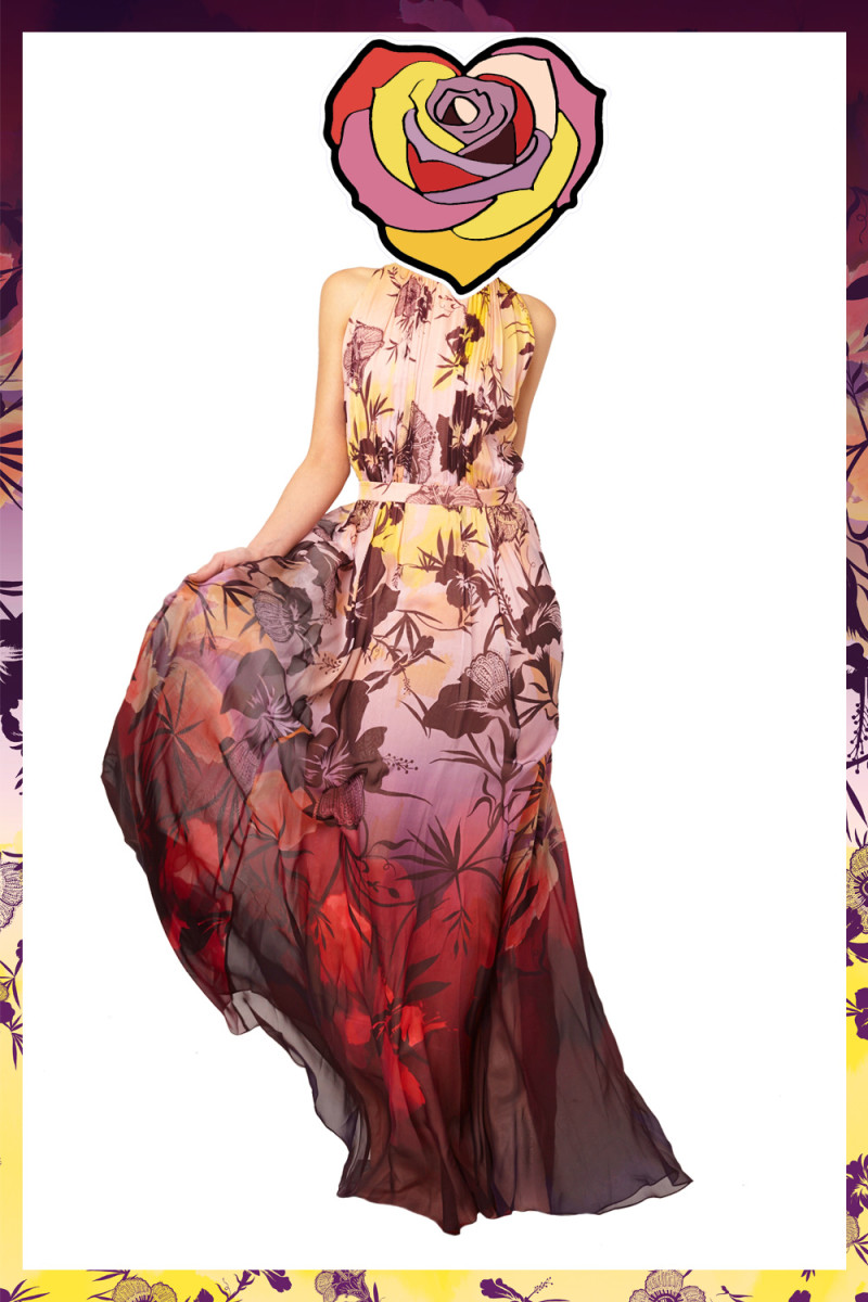 Matthew-Williamson-SS15-Hibiscus-Silk-Chiffon-Gathered-Gown-Rose3